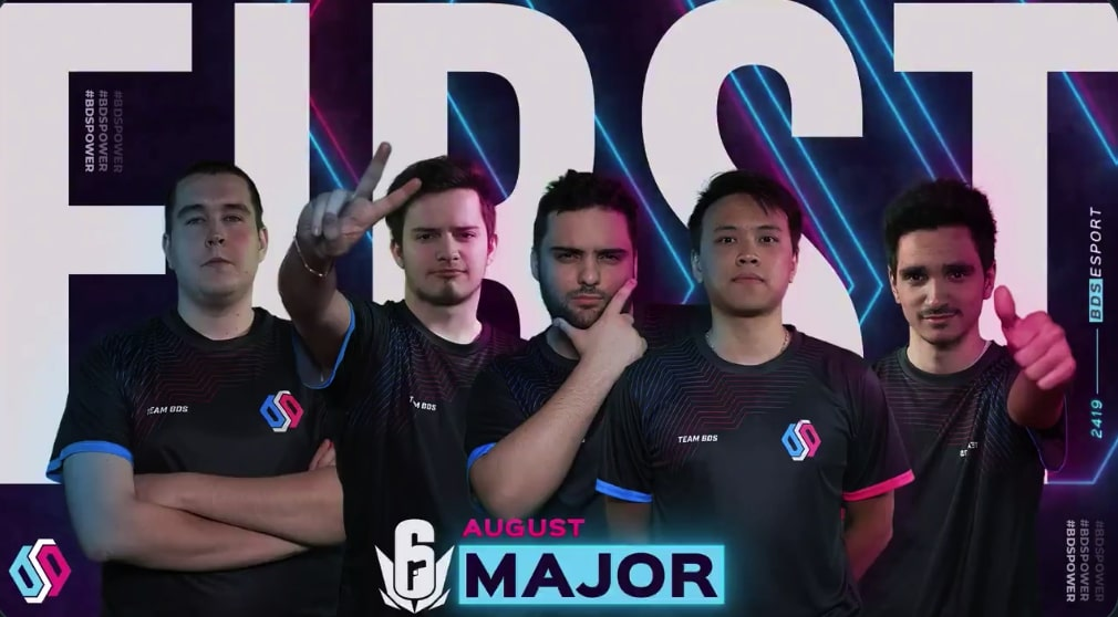 BDS Esport pull off reverse sweep against G2 to win Rainbow Six Siege Europe August Major