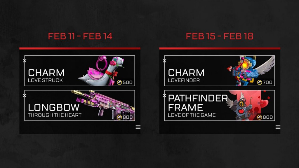 Apx Legends Valentines Day Schedule and Release Date