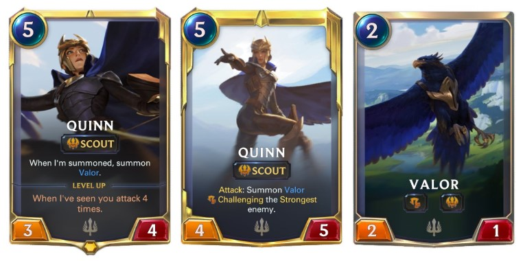 Legends of Runeterra Quinn new champion