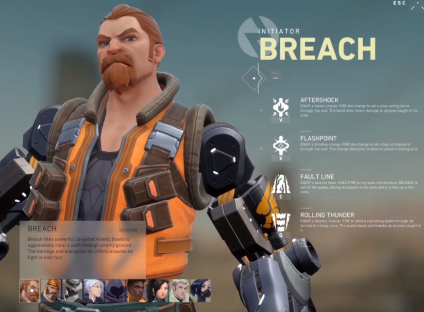 Breach Valorant Agents and abilities