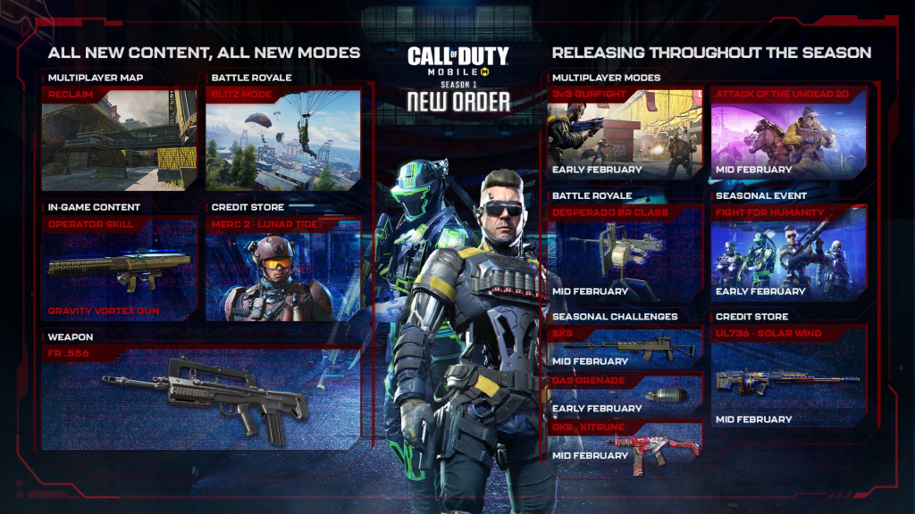 COD Mobile Season 1 roadmap attack of the undead 20 gas grenade seasonal event BR class