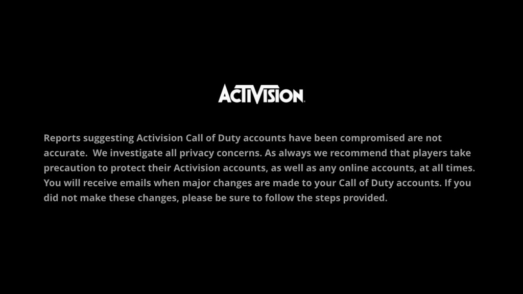 How to safeguard call of duty account hacked
