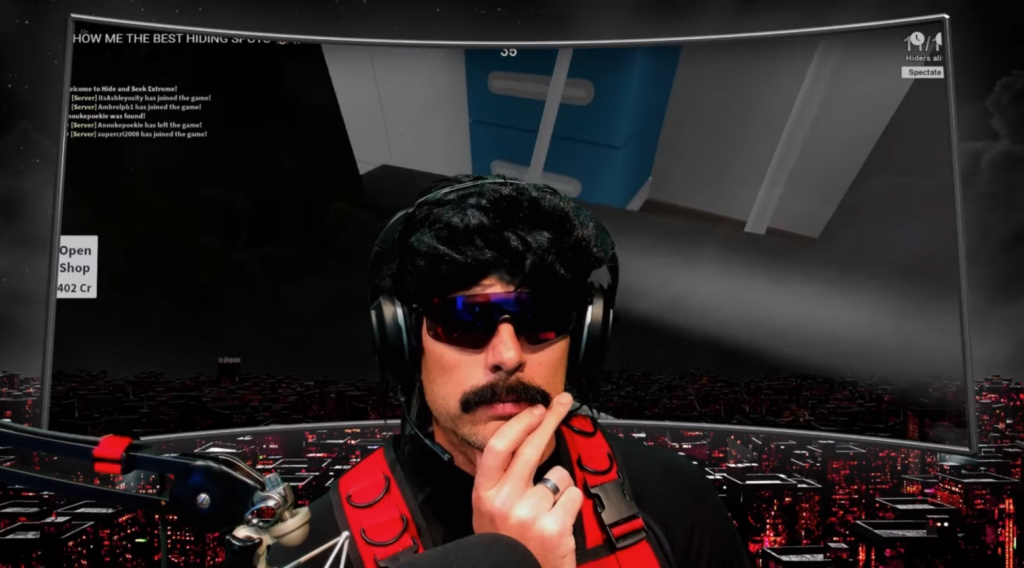 DrDisrespect YouTube streaming