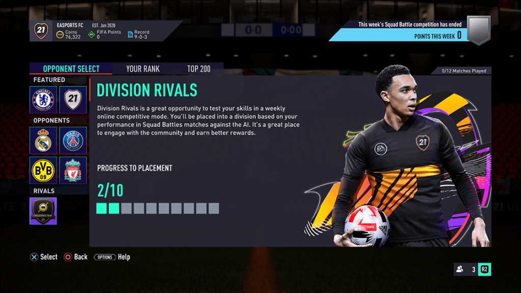 FIFA 21 FUT Division Rivals and Squad battle changes