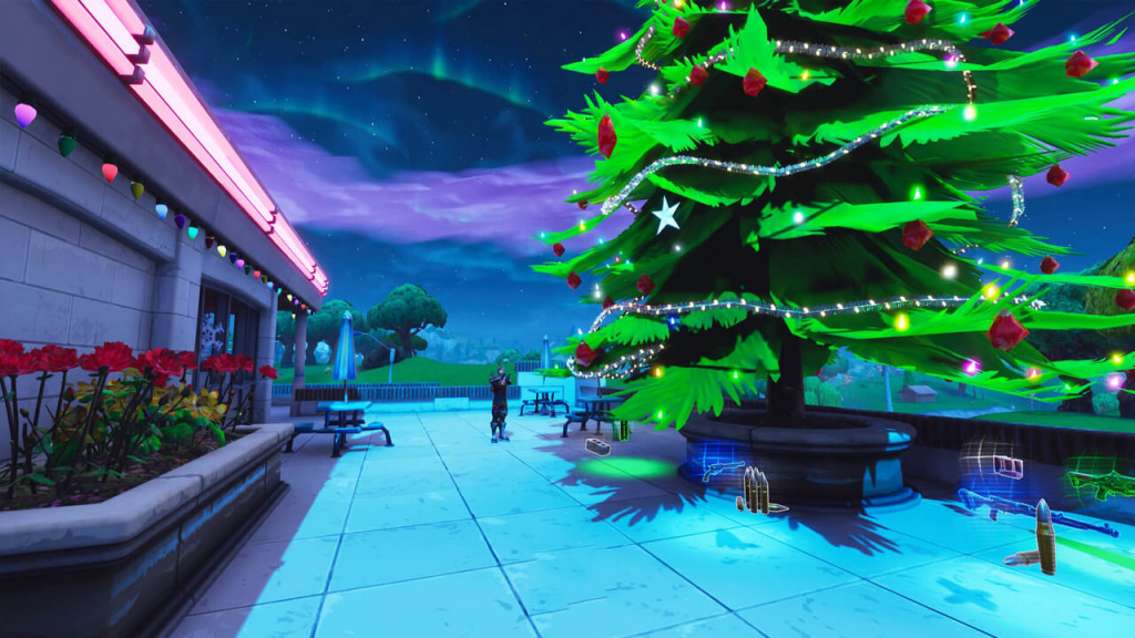 Fortnite Holiday Trees challenge locations