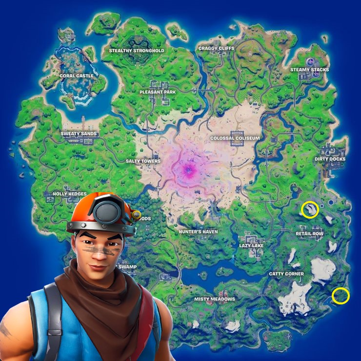Fortnite cole the miner location hop rock Dualies