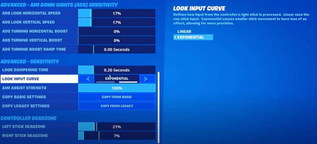 Best Controller Settings For Fortnite Season 5 Linear Expo Deadzones Button Configs More Ginx Esports Tv