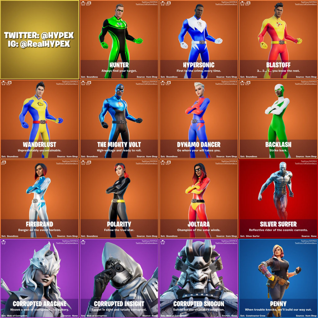 All Leaked Skins And Cosmetics From Fortnite V14 10 Patch Fortnite leaks, fortnite news and guides, esports and player information. all leaked skins and cosmetics from