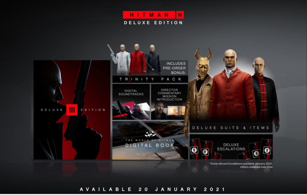 Win a copy of Hitman 3 deluxe edition playstation xbox free stadia PC