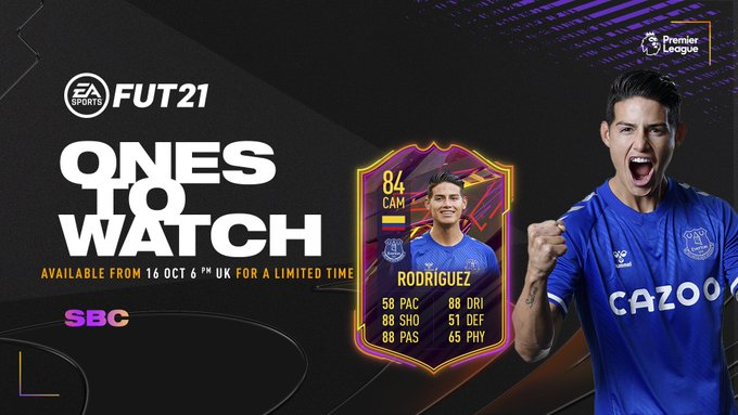 FIFA 21 James Rodriguez Ones to Watch SBC: Requirements and cheap solutions