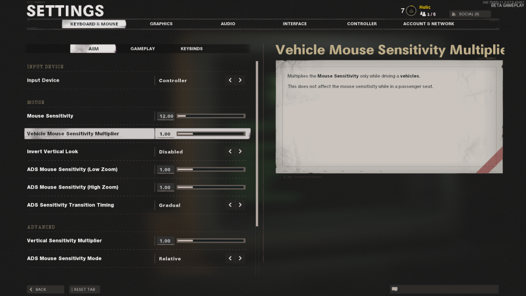 Black Ops Cold War mouse settings
