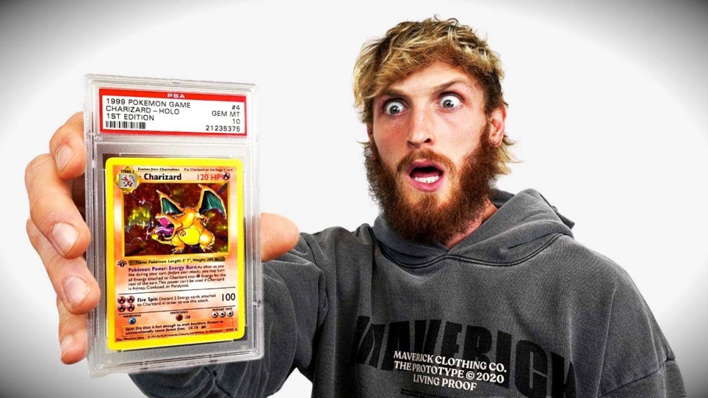 Logan Paul buys perfect Pokemon Charizard card from Pawn Stars' Gary for $150,000
