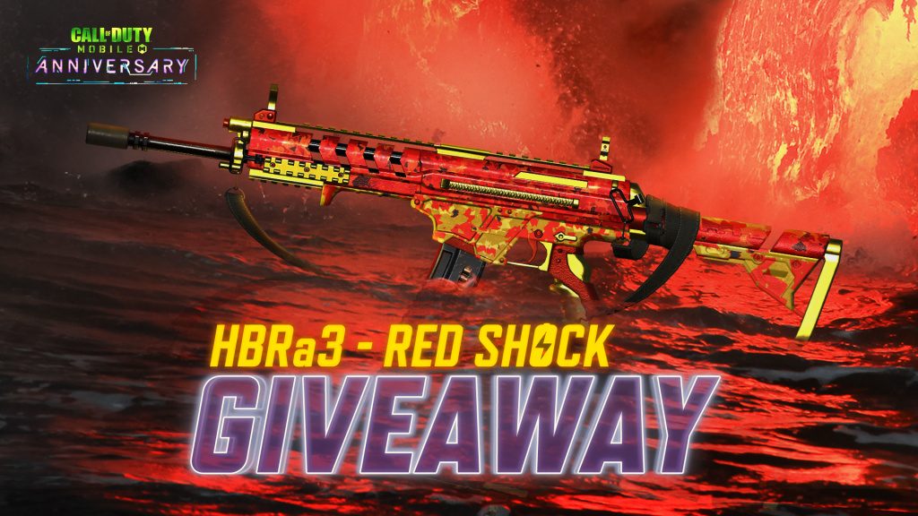 Learn how you can get the exclusive HBRa3 Red Shock skin for COD:M