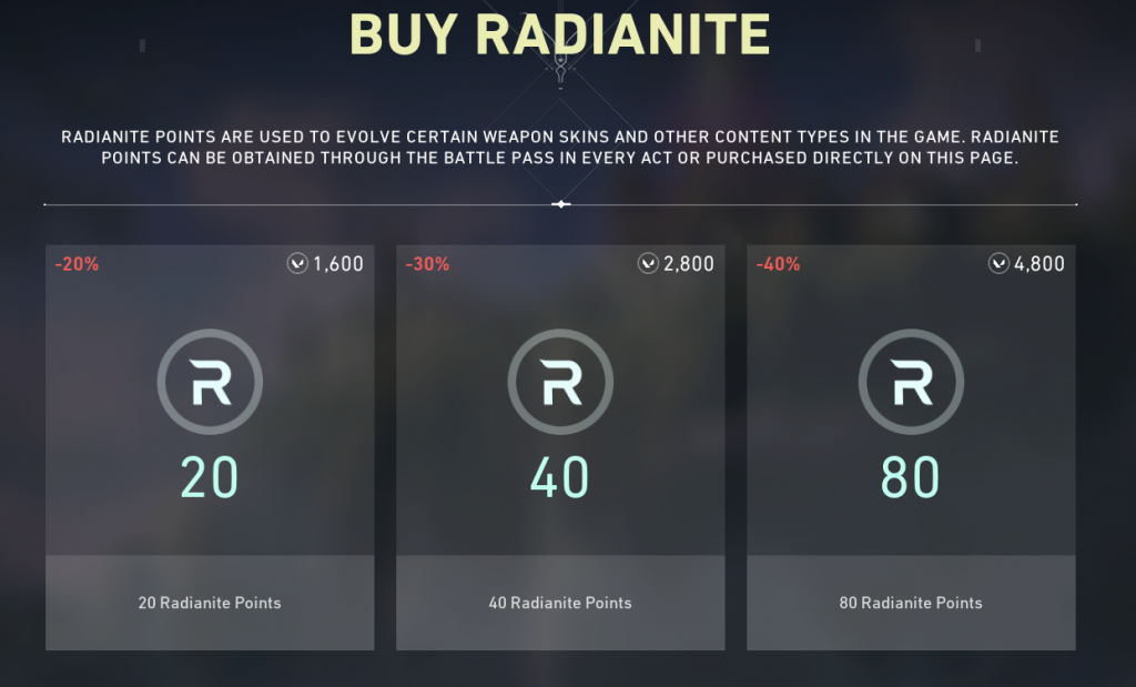 Buy Radiante Points