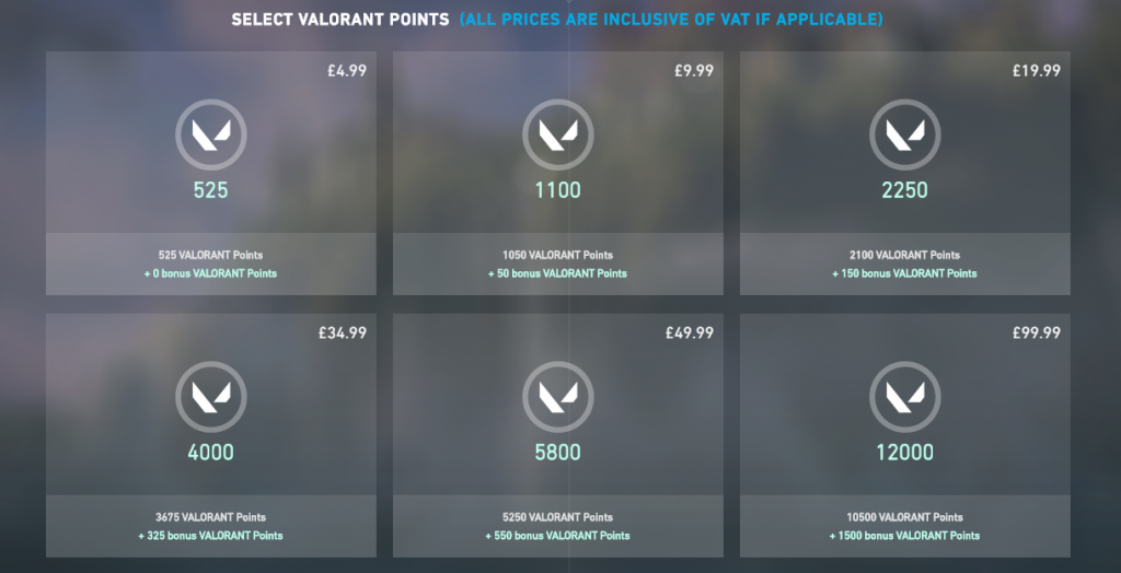 Valorant Point  Price in UK