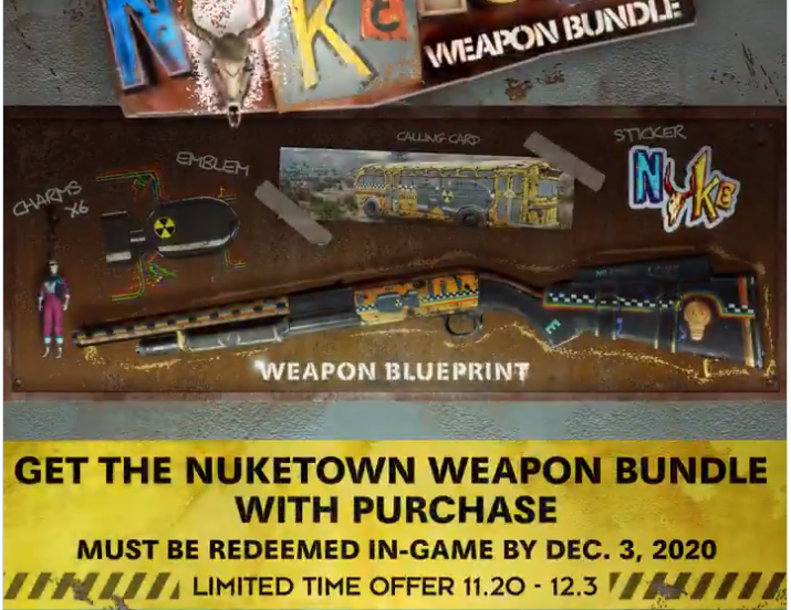 Nuketown weapon bundle how to get