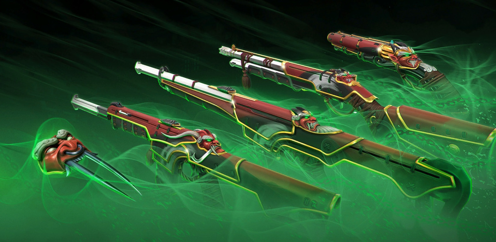 Valorant Oni Sakura weapon bundle