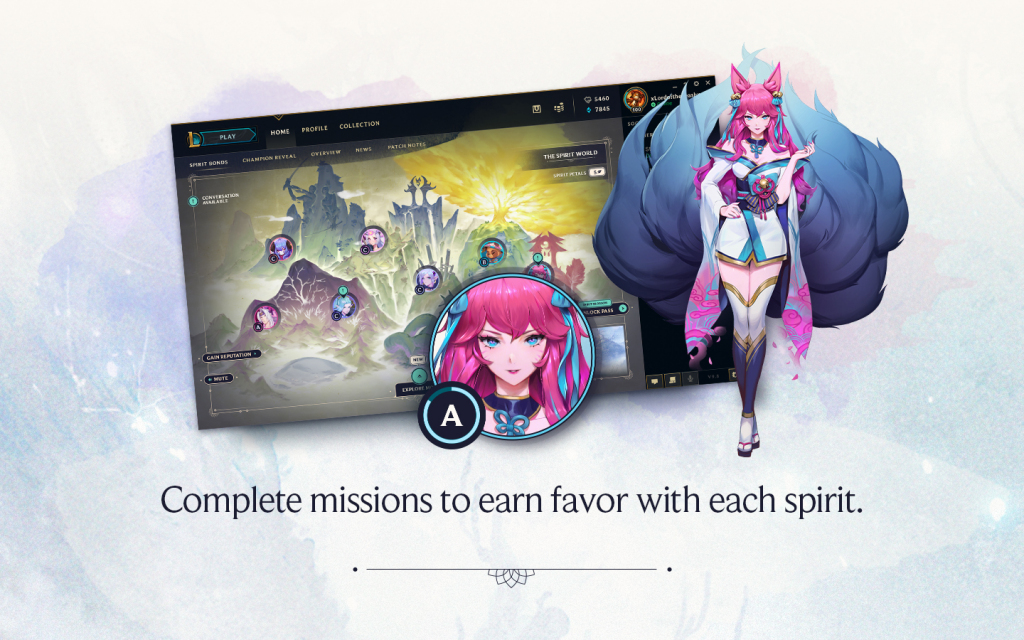 Spirit Blossom How to earn favour
