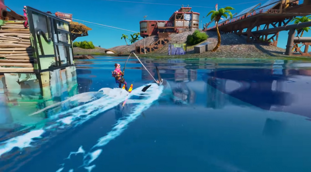 Waterski Fortnite shark water ski