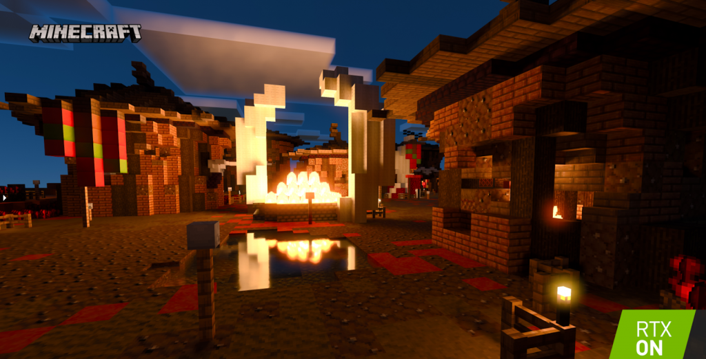 Ray Tracing officially added to Minecraft, 15 RTX Worlds now included in game