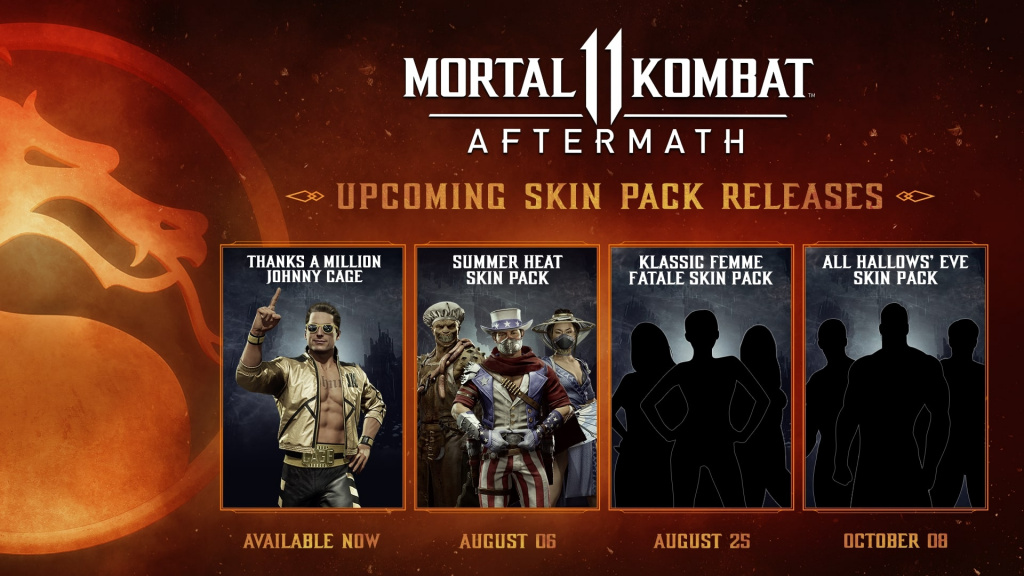 Mortal Kombat 11 Aftermath New Summer And Halloween Skin Packs