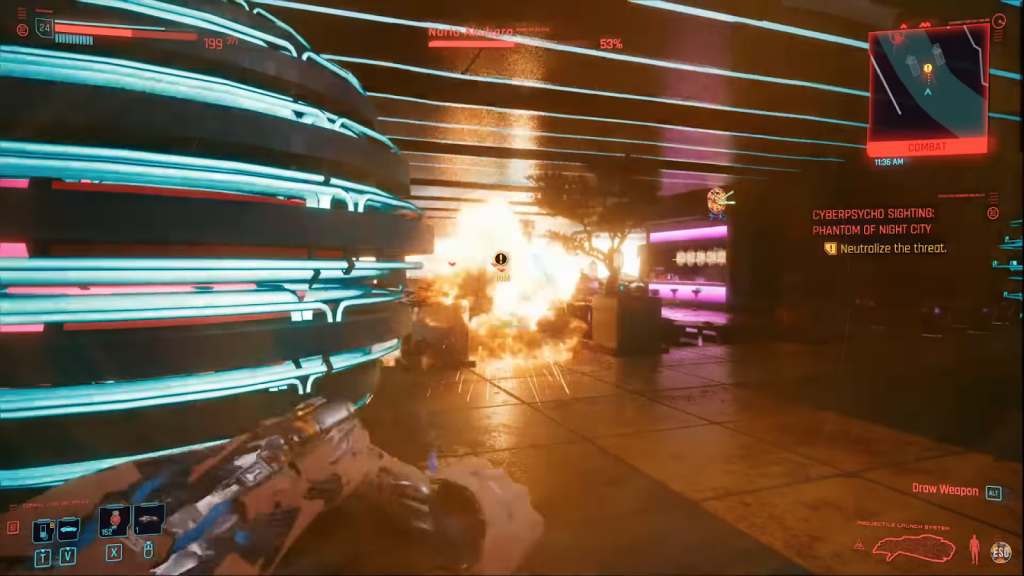 "Cyberpunk 2077: how to ""one-hit kill"" opponents with launcher/tranquillizer combo"